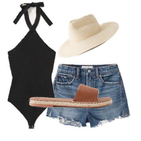 LTK Day. #abercrmbie&fitch #highriseshorts #summer #summertime #summerwear #swimsuit #sandals #LTKDAY @liketoknow.it #liketkit (enableimagetoviewlink) #LTKDay #LTKswim #LTKshoecrush