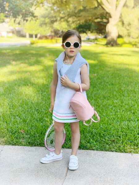 Birdie is feeling this outfit 🙌 safe to say she loves it. Linking her dress and tennis accessories below.   #LTKfit #LTKkids