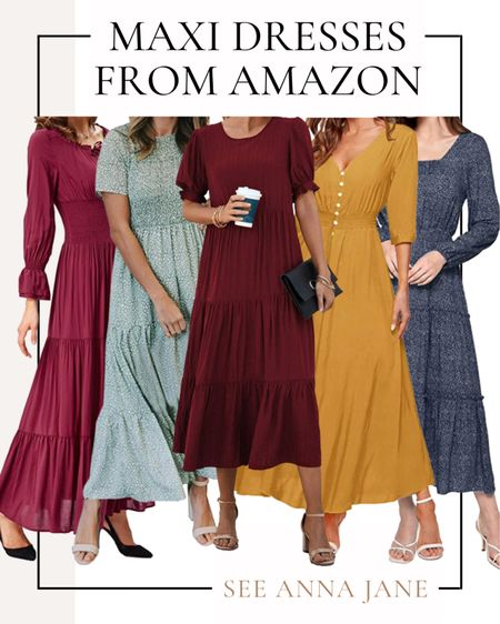 Maxi Dresses From Amazon I'm Loving 🙌🏼  #maxidress #amazonfashion #amazonfashionfinds #amazonfinds #falldress #fallstyle #affordablefashion #falloutfits #fallfashion #falloutfitideas #amazondress  #LTKunder50 #LTKSeasonal #LTKstyletip