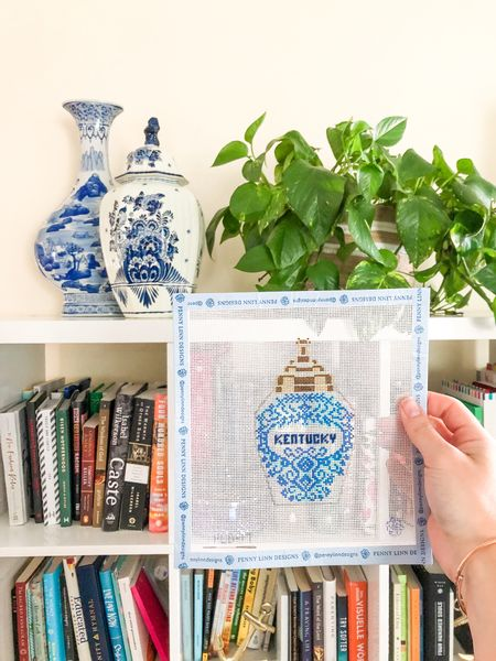Clearly, I've got a thing for blue & white ginger jars 🏺   This needlepoint canvas is by Penny Linn Designs, and my vase and canister are both vintage. I did link to a few favorites below!  #LTKstyletip #LTKhome