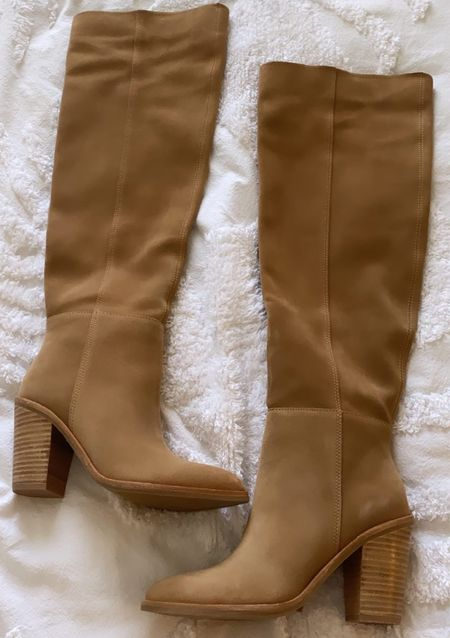 These nude suede treasure and bond over the knee boots from the Nordstrom Sale are so cute! #nsale #overthekneeboots  #LTKunder100 #LTKsalealert #LTKshoecrush