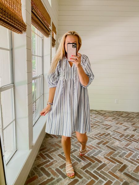 Love this dress so much for summer! You could even wear as a beach coveruo!   #LTKunder50 #LTKsalealert #LTKswim
