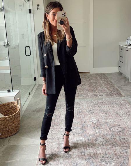 Target cami (xs) Target blazer (xs) Walmart jeans      #LTKstyletip #LTKunder50 #LTKworkwear