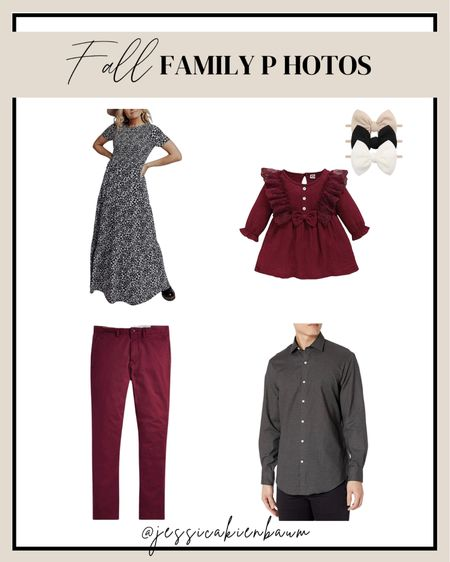 The perfect fall family photo outfit coordination. Wine, burgundy, dark red, coordinating family outfits all from amazon!   #LTKstyletip #LTKmens #LTKSeasonal