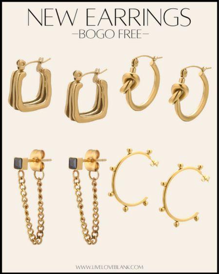 BOGO free on their gold collection earrings bracelets, necklaces and rings   #LTKGiftGuide #LTKsalealert #LTKunder50