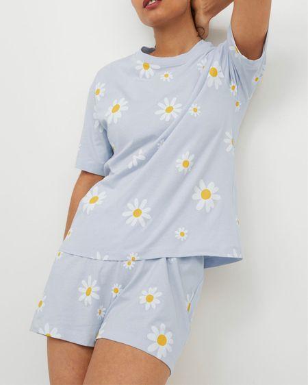 The cutest daisy print pajamas! http://liketk.it/3k0fm #liketkit @liketoknow.it #LTKunder50 #LTKhome