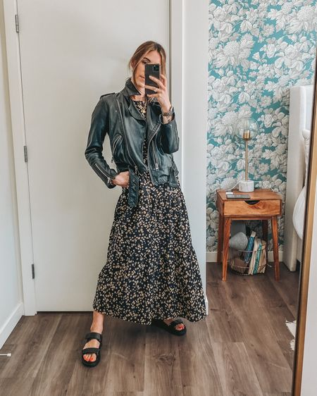 The perfect spring dress you can layer with a leather jacket and sandals! Dress is $30! http://liketk.it/3d361 #liketkit @liketoknow.it #LTKunder50 #LTKstyletip