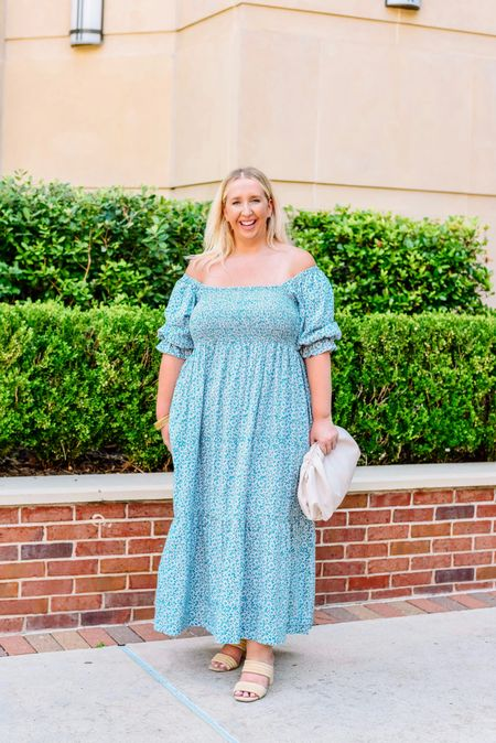 Happy Saturday, y'all! I just made it to San Antonio and we are already knee deep in college football 🏈 Can't wait to watch my Rebels on Monday! I wanted to share this summer cottagecore dress is up on the blog today!   #LTKcurves