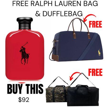 FREE Ralph Lauren Large Duffle AND a bonus Duffle when you buy the fragrance.  http://liketk.it/3gIwB #liketkit @liketoknow.it #LTKsalealert #LTKunder100 #LTKbeauty