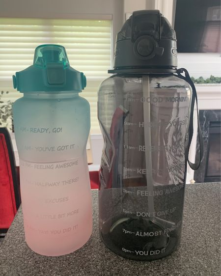 My half gallon and one gallon water bottles. I think the half gallon is more manageable for me lol http://liketk.it/3fQpE #liketkit @liketoknow.it #LTKfit #LTKunder50 #LTKbeauty
