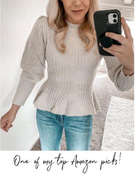 Amazon Fall Sweater, Amazon Fall Outfit, Amazon Sweater, Amazon Outfit,  #LTKSeasonal #LTKunder50 #LTKstyletip   http://liketk.it/3oeP4 @liketoknow.it #liketkit