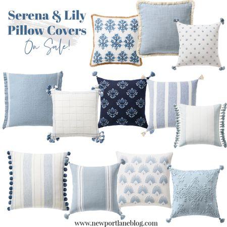 Serena and Lily pillow covers on sale!     #LTKunder100 #LTKsalealert #LTKhome
