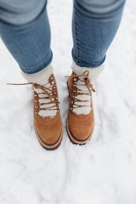 Snow boots on sale Marc fisher izzie boots on sale Sherpa boots Winter boots   #LTKSeasonal #LTKsalealert #LTKshoecrush