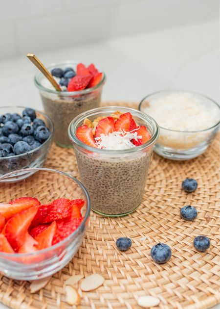 Date Night❣️Prep this Collagen Chia Pudding at night for a grab and go breakfast (or snack) in the morning! It's lightly sweetened with @ndmedjooldates and packed with fiber, healthy fat, and protein. It's tasty as is or topped with your favorite combo of fresh fruit, nuts, or shredded coconut!   This simple, fast family friendly recipe is on the blog, link in bio!  #ad #naturaldelightsmedjooldates #raisedonsunshine #datenight #mealprep #easybreakfast #paleo #glutenfree #breakfastinspo #chiapudding #collagen #almondmilk #kidfriendlyrecipes #momlife #dallasblogger   #LTKfamily #LTKbacktoschool #LTKhome
