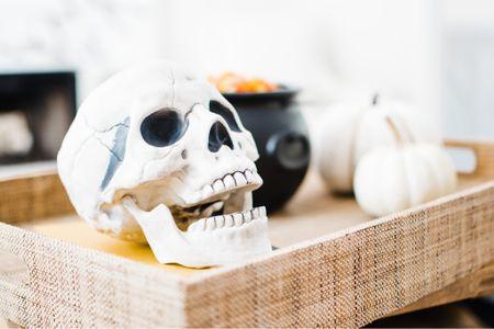 Halloween decor, home decor, skull, cauldron  #LTKhome #LTKunder50 #LTKSeasonal