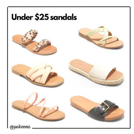 Under $25 summer sandals http://liketk.it/3fySy #liketkit @liketoknow.it #LTKshoecrush #LTKsalealert #LTKunder50