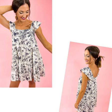 Cutest transitional dress.  This will follow me into the fall season!  Creamy white and navy.  Wearing a M!     #LTKSeasonal