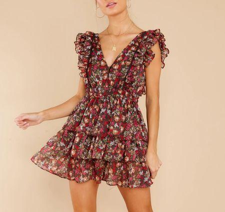 Such a pretty fall dress… perfect for a fall wedding guest or fall date night!   #LTKunder100 #LTKSeasonal #LTKstyletip