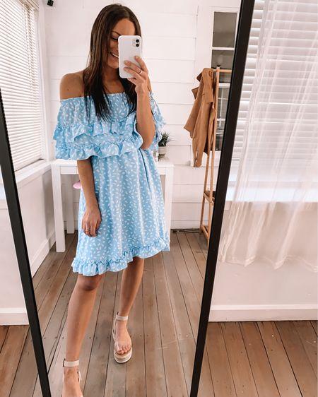 Amazon spring dress -wearing a S, big on me  amazon sandals - I sized down 1/2 a size  Amazon Easter outfit amazon Easter dress #LTKstyletip #LTKSeasonal #LTKfamily http://liketk.it/3ay9R #liketkit @liketoknow.it