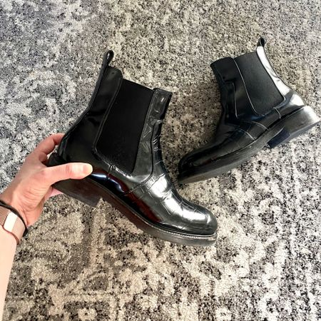 Croc 🐊 meets combat.  http://liketk.it/30zlo #liketkit @liketoknow.it  #combatboots #fallboots #blackboots #booties #blackbooties #affordablestyle #samedelman #jeffreycampbell #matisse #nordstromrack #LTKunder100 #LTKworkwear #LTKunder50 #shoesale #desmoines #westdesmoines #thebookofcaleb