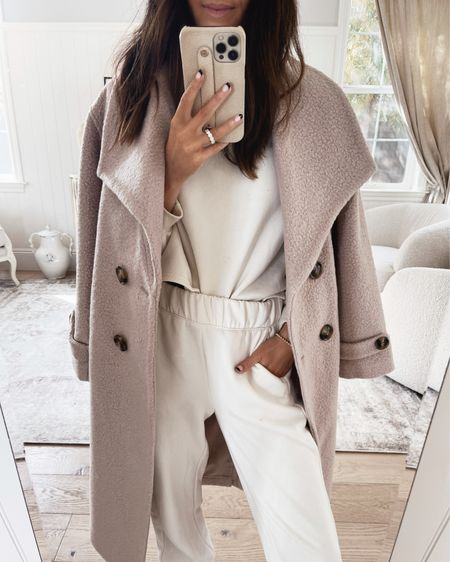Loving this gorgeous neutral coat. I'm wearing Xsmall. The fabric is soft and cozy.    #LTKHoliday #LTKSeasonal #LTKfit