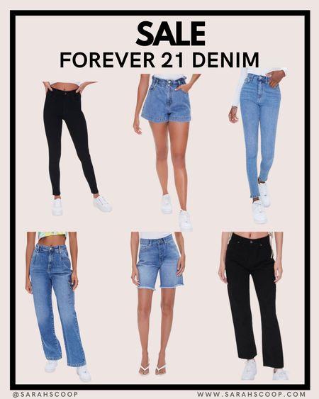 Check out Forever 21's denim sale!  #LTKstyletip #LTKsalealert #LTKunder50