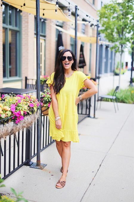 Ok real question….. are you ready for fall like the fashion world is or are you still hanging onto summer?! ☀️   I'm still soaking up all the sun now that I live in Indy where there are four seasons! I don't take the warm weather for granted or wish it away even though I do love fall! 🤣   This little $14 dress just screams summer to me & is perfect to wear now OR with boots and a jacket when the weather actually does turn cooler. It comes in a bunch of colors & runs true to size…. @walmartfashion for the win yet again!   #LTKsalealert #LTKunder50 #LTKstyletip