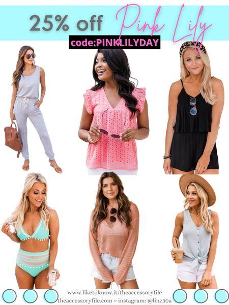 25% off sitewide at Pink Lily  Jumpsuits, rompers, tank tops, swimwear, bathing suit, bikini, two piece bathing suit, one piece bathing suit, hoodies, summer outfits, summer look, vacation outfits, beach vacation, maxi dress, shorts, denim shorts, vacation looks, pool party, summer outfits, vacation travel outfits, wedding guest dress    http://liketk.it/3i8t2  #liketkit @liketoknow.it #LTKsalealert #LTKstyletip #LTKunder50 #LTKseasonal #LTKsummer