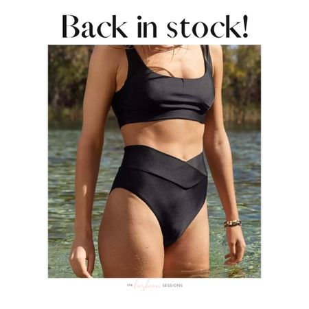 The cult favorite figure flattering crossover swim bottoms from Aerie are back in stock!   Shop your screenshot of this pic with the LIKEtoKNOW.it shopping app http://liketk.it/3bp9U #liketkit @liketoknow.it #LTKunder50 #LTKswim #LTKtravel