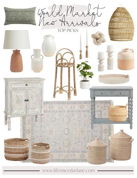World Market New Arrivals - loving these neutral & affordable finds!   #LTKstyletip #LTKhome #LTKsalealert