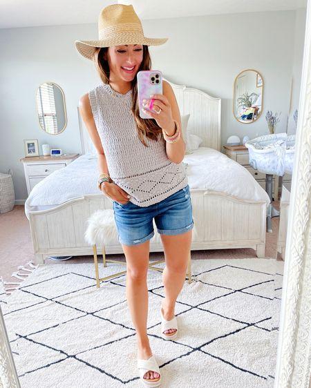 • medium tank • size 4 shorts  • sandals tts   http://liketk.it/3hIXn #liketkit @liketoknow.it