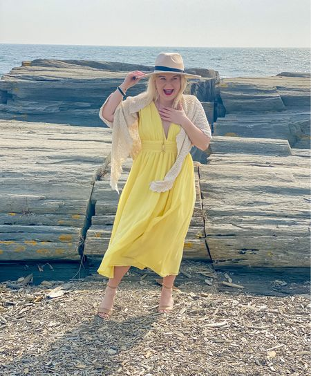 Sunshine yellow.  This color is sold out, but it dies come in several other colors. I also linked several dresses in this purty yellow if you love the color.  I mostly size up to a medium in Lulu dresses.  #easterfashion   #LTKwedding #LTKSpringSale #LTKSeasonal