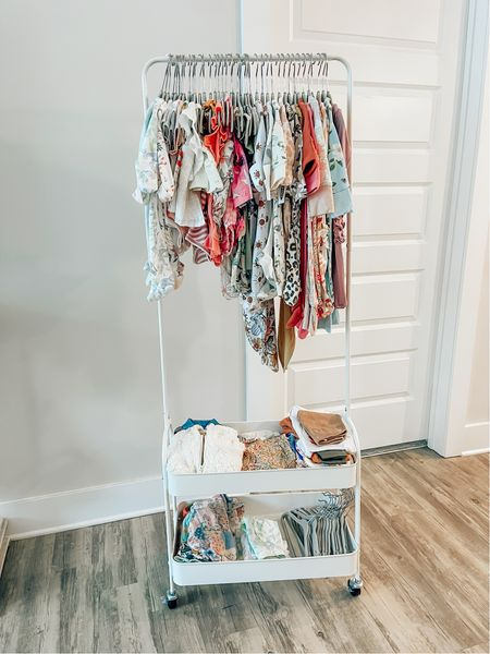 Baby Makeshift Closet // Rolling Cart   #LTKunder100 #LTKbaby #LTKhome