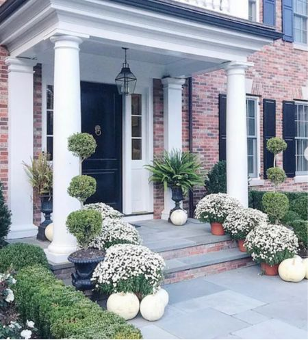 Fall front door and porch decor for fall. Fall decor   #LTKunder50 #LTKhome #LTKSeasonal