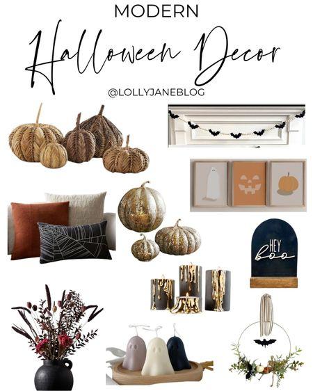 Modern Halloween decor!  Lolly Jane Blog | #LollyJaneBlog   #LTKunder100 #LTKhome #LTKunder50