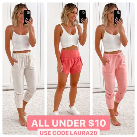 On clearance under $10 with code LAURA20  Wearing size small in everything    http://liketk.it/3hVjB #liketkit @liketoknow.it #LTKunder50 #LTKshoecrush #LTKsalealert #laurabeverlin