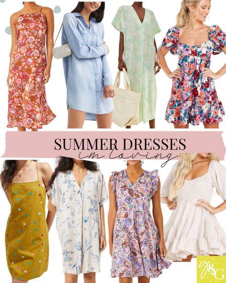 Summer dresses // floral dress, wedding guest dresses, tunic, shirt dress   #LTKstyletip #LTKunder100