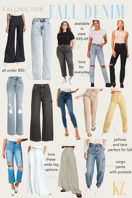 Falling for Fall Denim - Fall Outfit Inspiration, Fall Jeans   #LTKstyletip #LTKSeasonal #LTKcurves