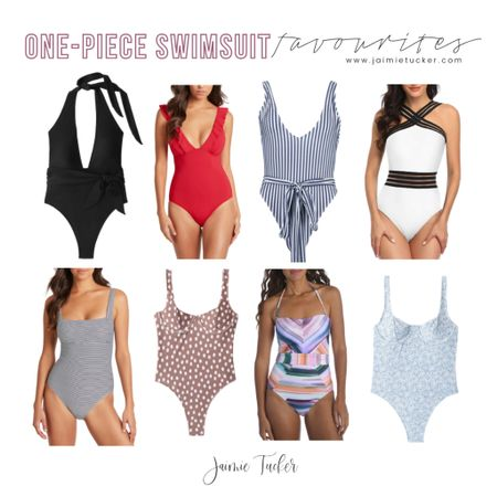 Some fabulous one-piece swimsuits that I currently love. The fun patterns, vibrant colors and swimsuit cuts are totally in right now. | #swimwear #swimsuit #onepieceswimsuit #vacationoutfit #beachvacation #beachoutfits #LTKDay #LTKDaySale #summeroutfits #poolpartyoutfits #BBQoutfits #summersimwear #JaimieTucker  #LTKswim #LTKtravel #LTKstyletip
