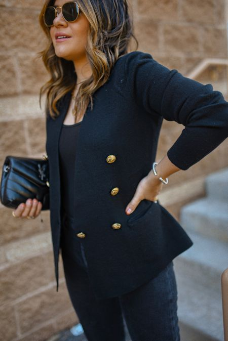 The classic black blazer with the perfect gold accents! - express, ltk sale, blazer, fall outfit, fall fashion, fall style  #LTKworkwear #LTKstyletip #LTKSale