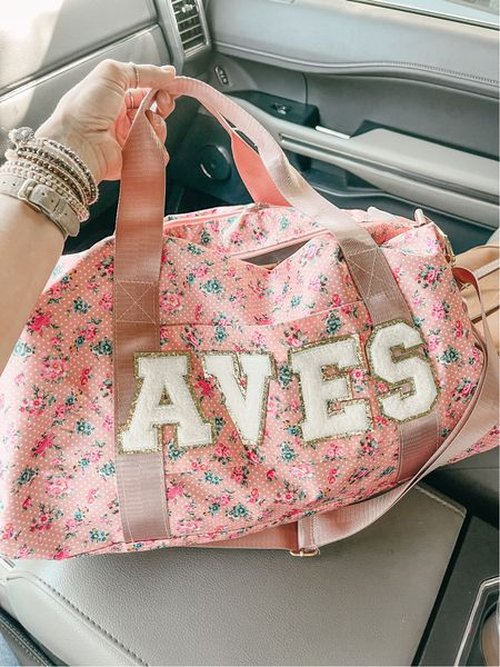 Cutest personalized bag! Use SARAHJOY for 20% off ❤️❤️  #LTKkids #LTKtravel #LTKfamily