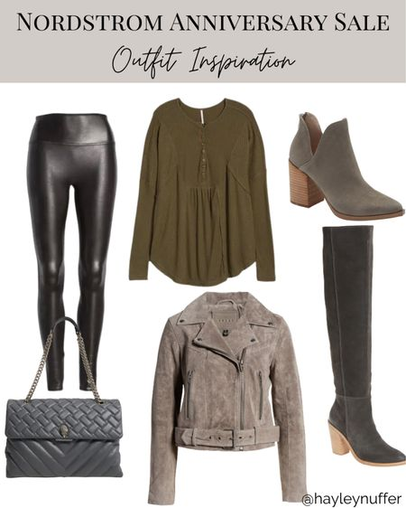 Putting together some #nsale looks for fall outfit inspiration! Can't wait to be out of maternity clothes. The Spanx faux leather leggings are a must have for this sale!    #LTKshoecrush #LTKSeasonal #LTKsalealert