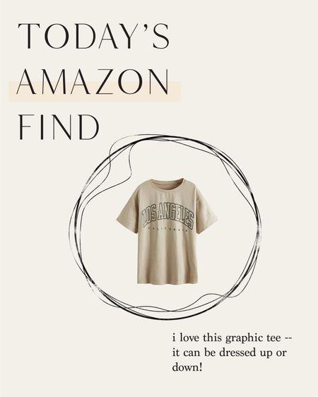 Amazon find / graphic tee  #LTKunder50 #LTKSeasonal #LTKstyletip