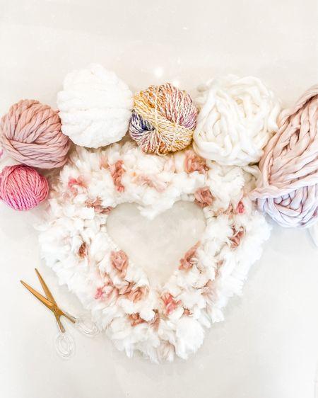 Heart yarn wreath http://liketk.it/35jw2 #liketkit @liketoknow.it