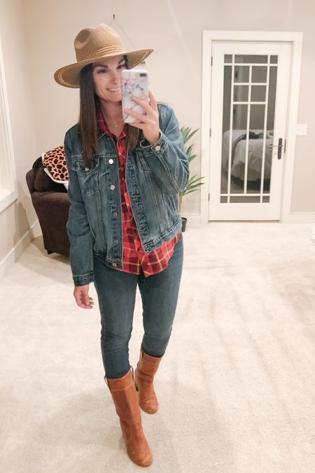 It's spirit week at school this week and today was Western day! Who else loves a good excuse to wear denim, plaid and boots?   http://liketk.it/2YdPh #liketkit @liketoknow.it