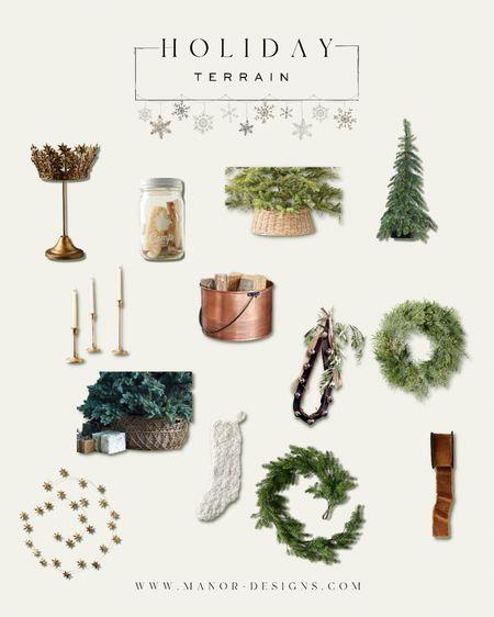 Holiday home decor from Terrain Christmas tree Wreath garland tree skirt ribbon  #LTKhome #LTKSeasonal #LTKHoliday