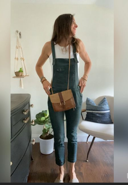 Screenshot from my reel on styling overalls! Linked up similar finds!   #LTKstyletip #LTKunder50 #LTKunder100