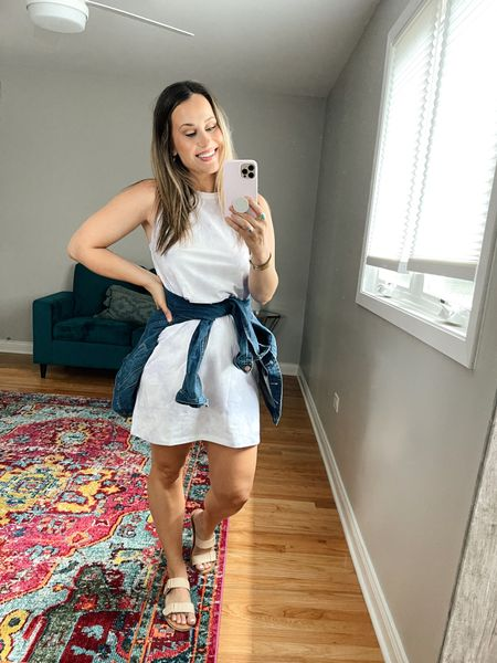 Target Finds: This tshirt dress is only $10! I love the fun tie dye print! also linked these target sandals and jean jacket.   #LTKshoecrush #LTKunder50 #LTKstyletip