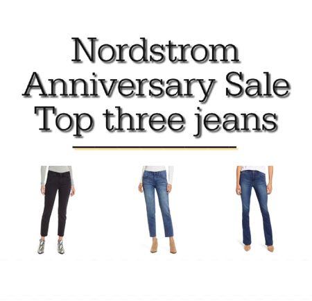 Denim picks from the #nsale. Tip best fitting flattering jeans.   #LTKsalealert #LTKstyletip #LTKunder100