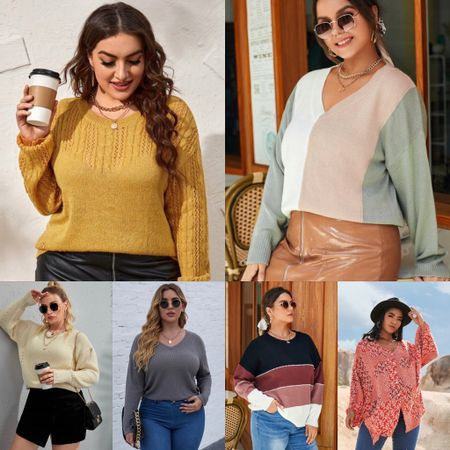 Plus-size Fashion: Sweaters - who is ready for fall? Give me all the cute sweaters     #LTKunder50 #LTKstyletip #LTKcurves